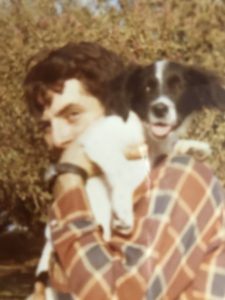 dan with dog on his shoulder